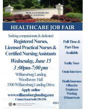 Williamsburg Landing Healthcare Job Fair